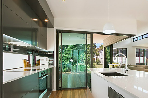 Modern Galley Style Kitchen