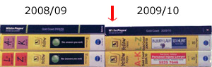 Gold Coast Yellow Pages Comparison 2008-9 2009-10
