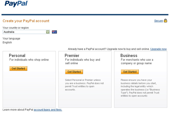 Paypal Setting Up an Account - Credit Card Payments and Payment