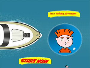 Bens Fishing Adventrures Flash Game