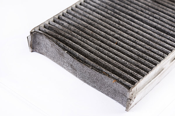 Dirty Mouldy Air Conditioning Filter