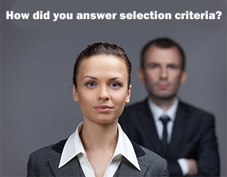 How to answer selection criteria
