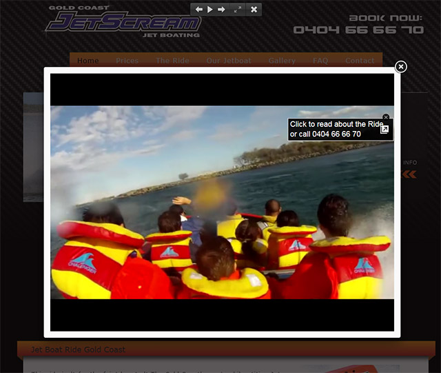 Jet Boat ride Gold Coast Video