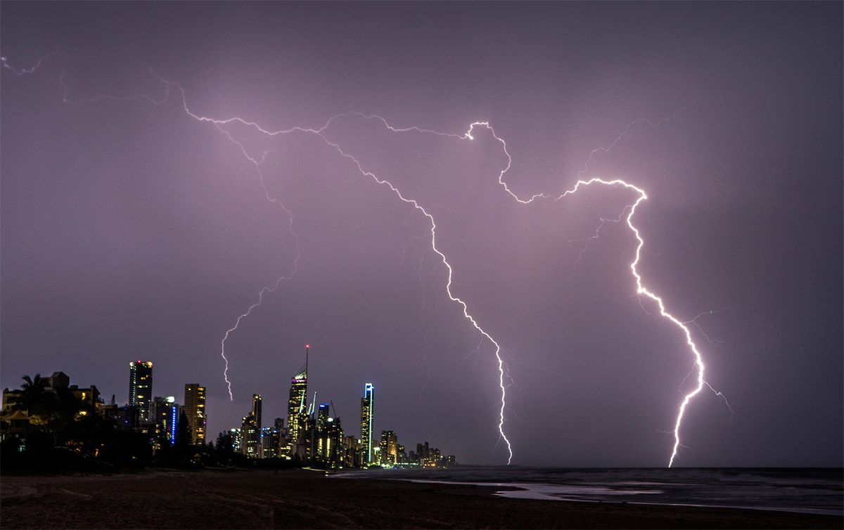 Lightning Storm Gold Coast