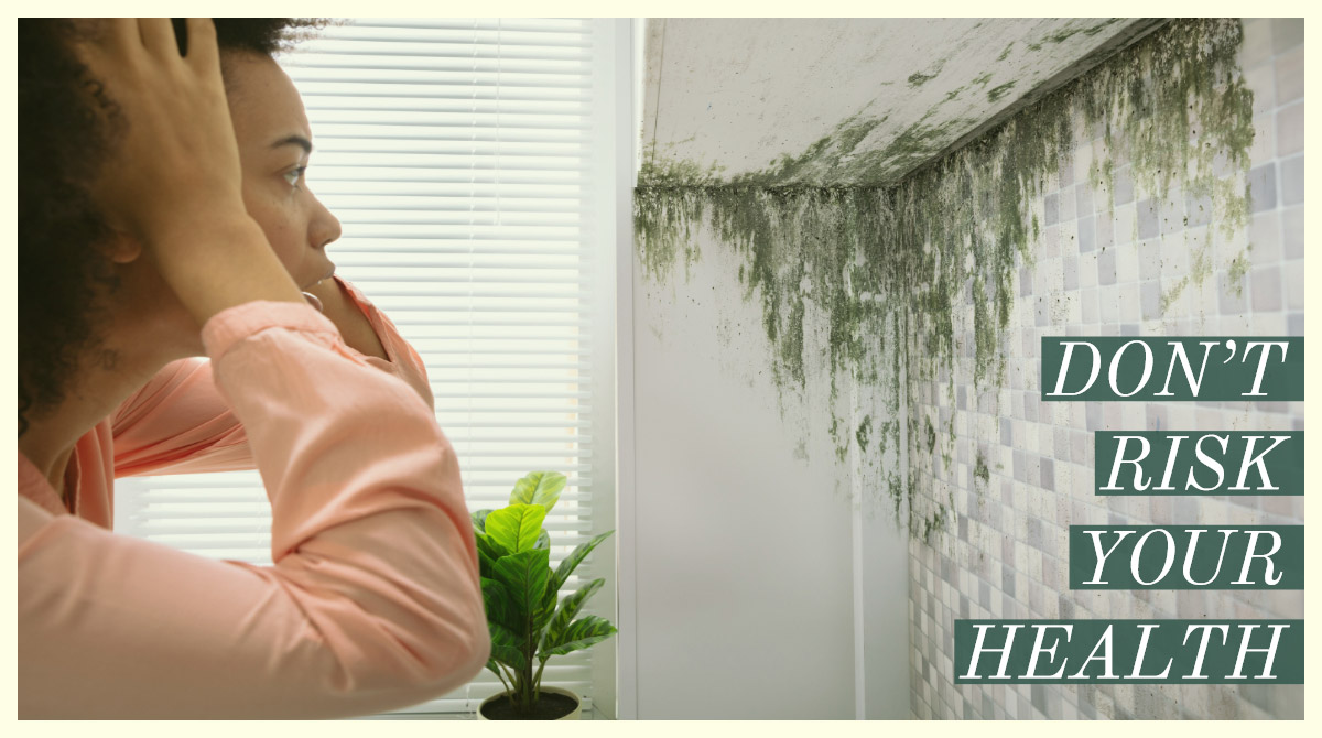 Mould in the Bathroom is a Health Risk