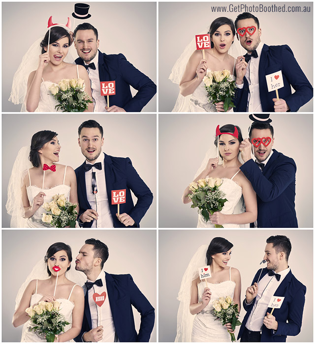 Photo Booth Wedding Photos