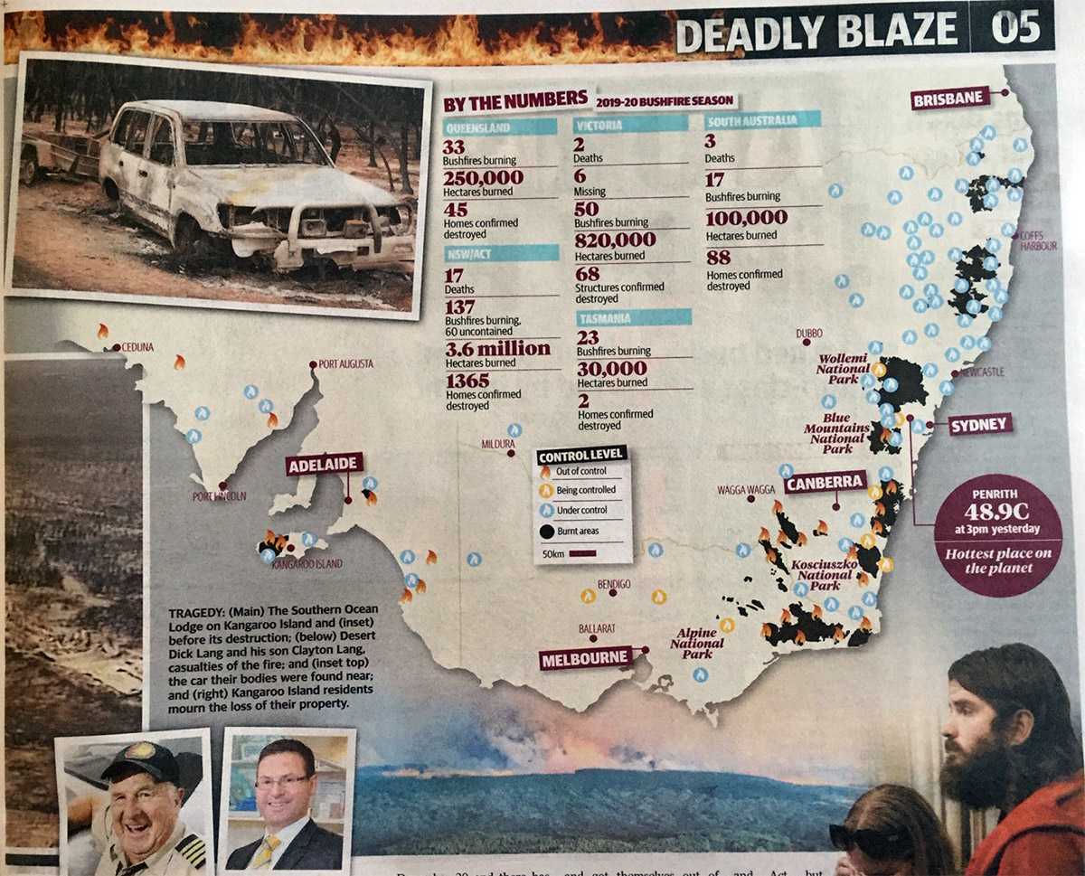 Sunday Mail Bushfires