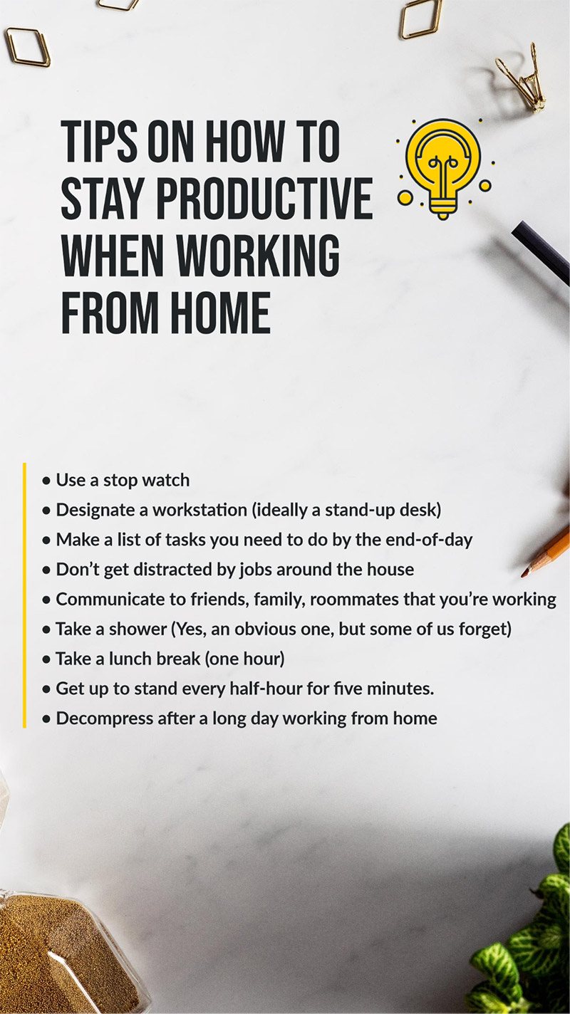 Tips For Staying Productive Working From Home
