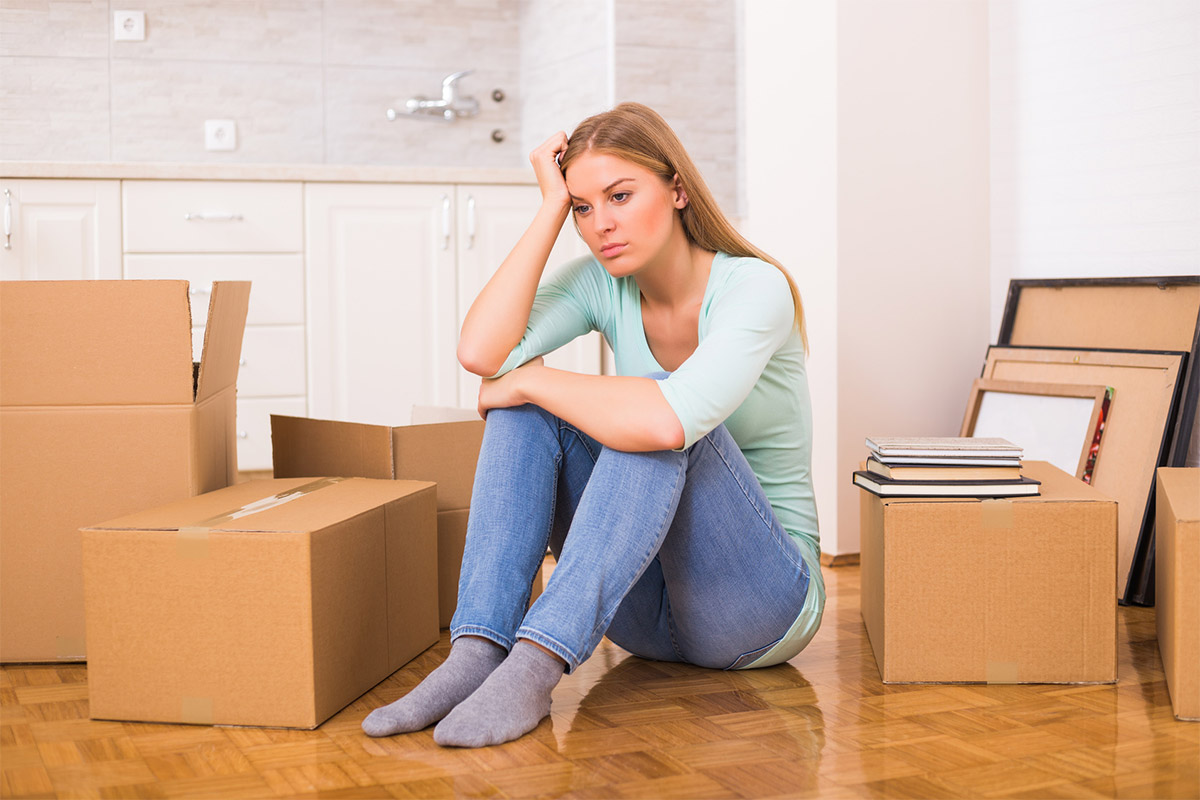Woman Moving Stress