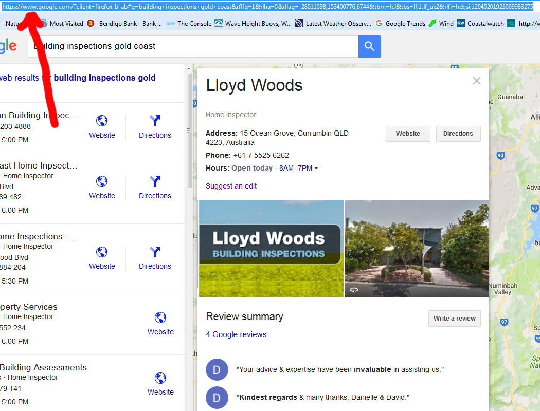 Finding your Google Places URL