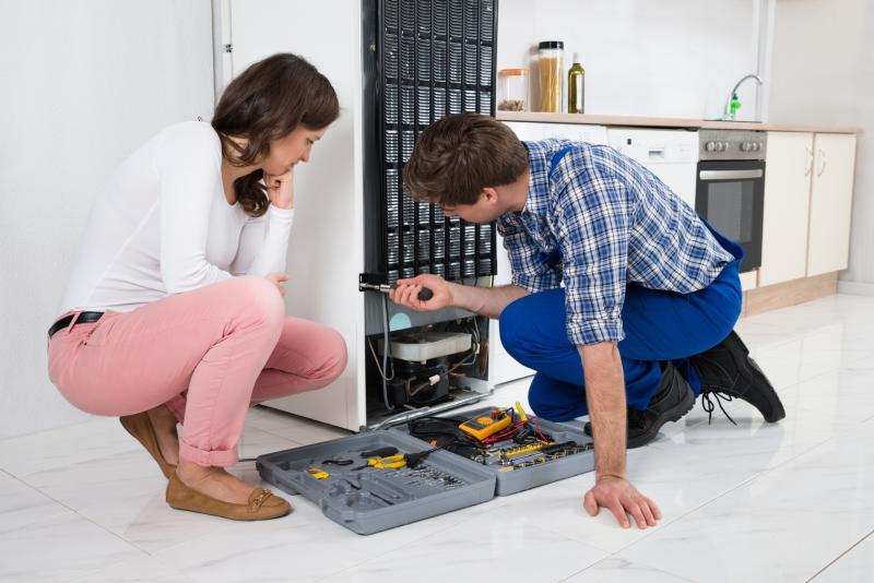 Man and Woman Refrigerator Repairs